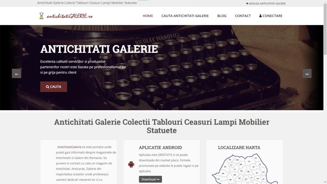 Galerie de antichitati online