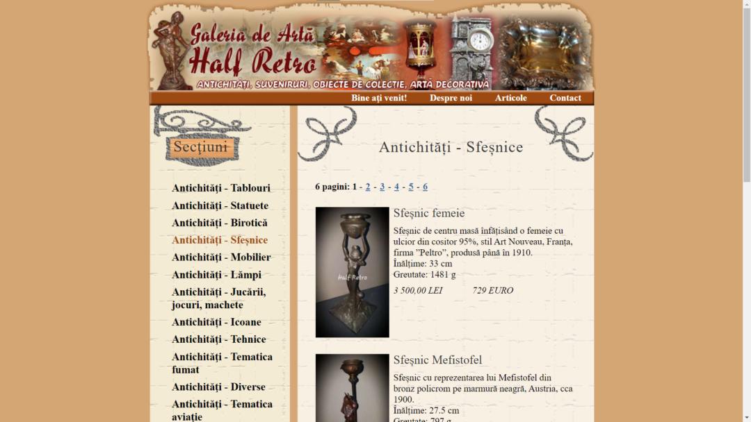 Magazin de antichitati Half Retro Bucuresti